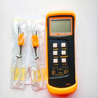 High Quality 6802 II Dual Channel Digital Thermometer With 2 K Type Thermocouple Sensor Probe For BGA Rework HVAC