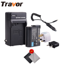 Travor EN-EL15/EN-EL15a Battery and Charger Kit For Nikon D600 D610 D600E D800 D800E D810 D7000 D7100 D750 +2pcs Lens Cloth