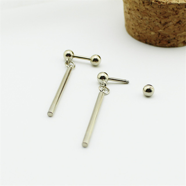 Youpop Kpop Vi Leo Al Silver Stud Earrings Korean Fashion Jewelry Accessories For Men And Women