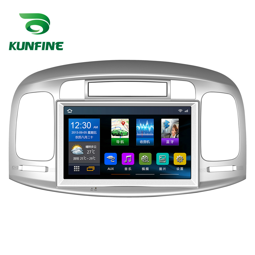 Quad Core 1024*600 Android 6.0 Car DVD GPS Navigation Player Deckless Car Stereo for Hyundai Accent 2006 2011 Headunit Radio