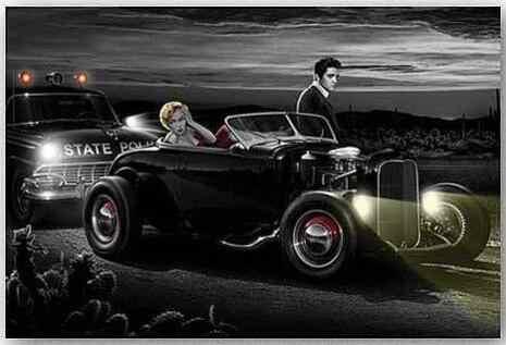 الفرح ركوب-مارلين مونرو و الفيس الحرير المشارك الديكور جدار الطلاء 24x36 بوصة