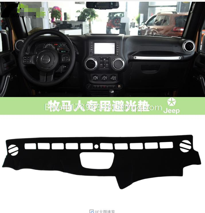 For Jeep Wrangler Unlimited Sahara JK TJL J8 2011 2012 2013 2014 2015 2016  Dashmats Car Styling Accessories Dashboard Cover
