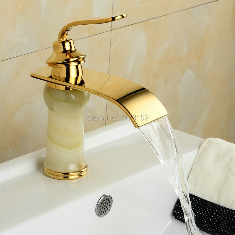 Gold Plated Taps Bathroom Washbasin Mixer Tap Goldplated