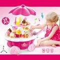 New kids toys simulación mini caramelo helado carro tienda pretend play set 39 unid toys para niños alimentos en miniatura vee_mall