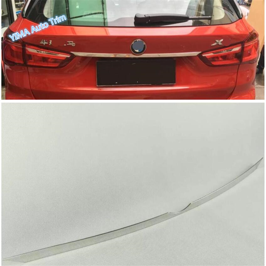 Lapetus Auto Styling Rear Trunk Tailgate Up Tail Door Decoration Strip Bezel Cover Trim Fit For <font><b>BMW</b></font> <font><b>X1</b></font> F48 2016 2017 2018 <font><b>2019</b></font> image