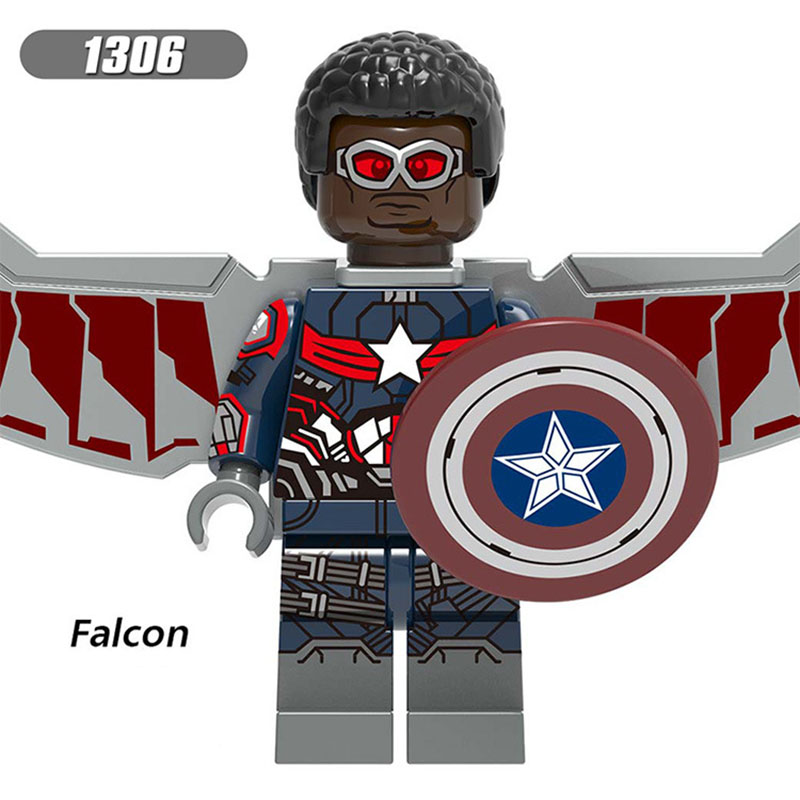 Single Sale Compatible LegoINGlys Super Heroes Figure Falcon Pepper Captain America War Machine Blocks Collection Toy Boys Gift