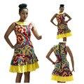 2017 Новый Женщины Dress Этническом Стиле Секси Молния Dress Цифровые Печатные Вечер Bodycon Карандаш Платья