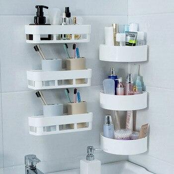 Behogar, 2 шт., настенный подвесной стеллаж для хранения без необходимости сверла, монтируемые полки с палкой для ванной комнаты, спальни, кухни, ...