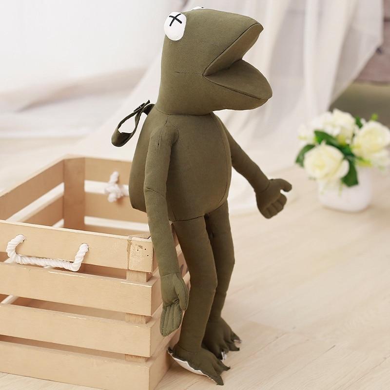 1pc 45cm Cute Frog Plush Toys Staffed Soft Rubber Animal Frog Figure ...