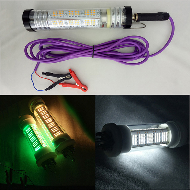 $ 168.99 140W 12V DC LED Fishing Light Dimmable Underwater Fish Attracting Light with 5M Cable