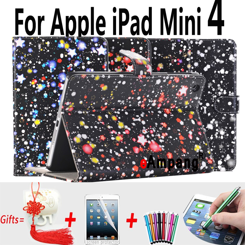 For Apple iPad Mini 4 7.9 Case Leather Smart Dream Star Shockproof Tablet Cases For Apple iPad Mini 4 Cover Mini4 with Stand print batman laptop sleeve 7 9 tablet case 7 soft shockproof tablet cover notebook bag for ipad mini 4 case tb 23156