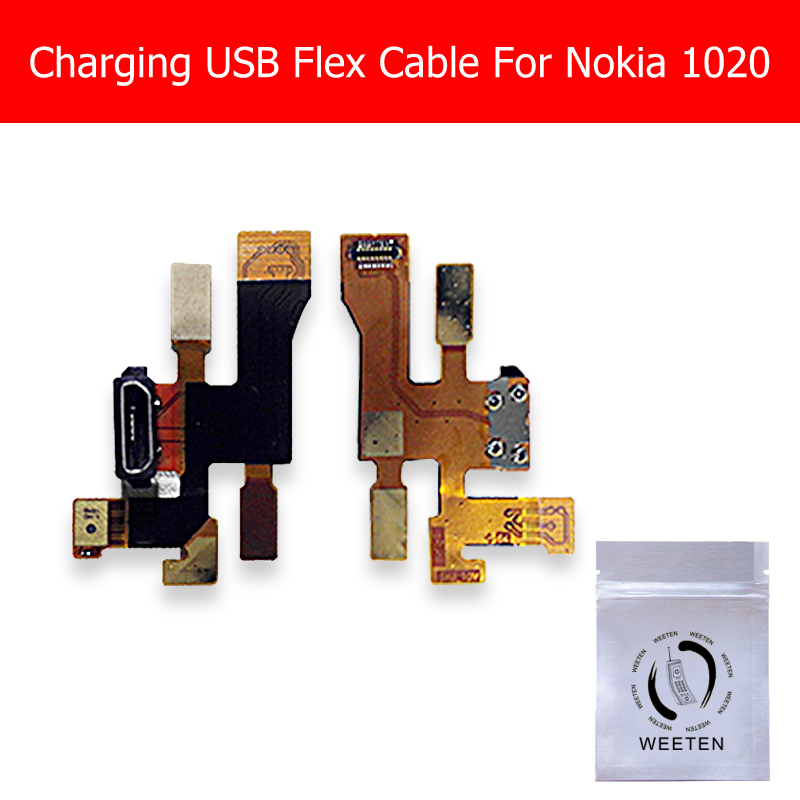 Genuine USB Charger Flex Cable For Nokia 1020 Charging Port Connector Flex Cable For Microsoft Lumia 1020 USB Jack Dock Ribbon