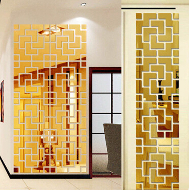 NEW Crystal Mirror 3D DIY Acrylic Mirror Wall Sticker Gemotric Shape Stickers Decal Mosaic Mirror Effect Livingroom Home Decor