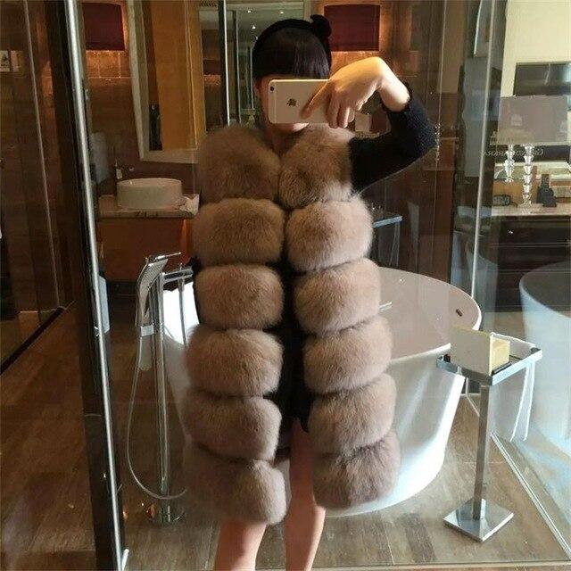 Ms New Fashion Plus Long Slim Fancy Fur Vest Jacket 2018 Korean Winter Fur Coat Women Fur Coat Faux Leather Parkas Windbreaker