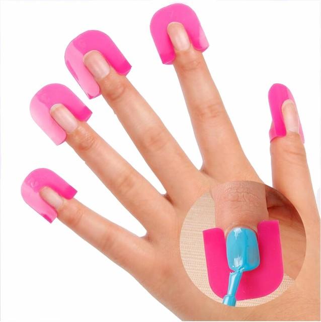 Bittb 1set Nail Polish Varnish Protector Holder Manicure Finger Nail Art Design Tips Cover Shield Tools UV Gel Nails Design