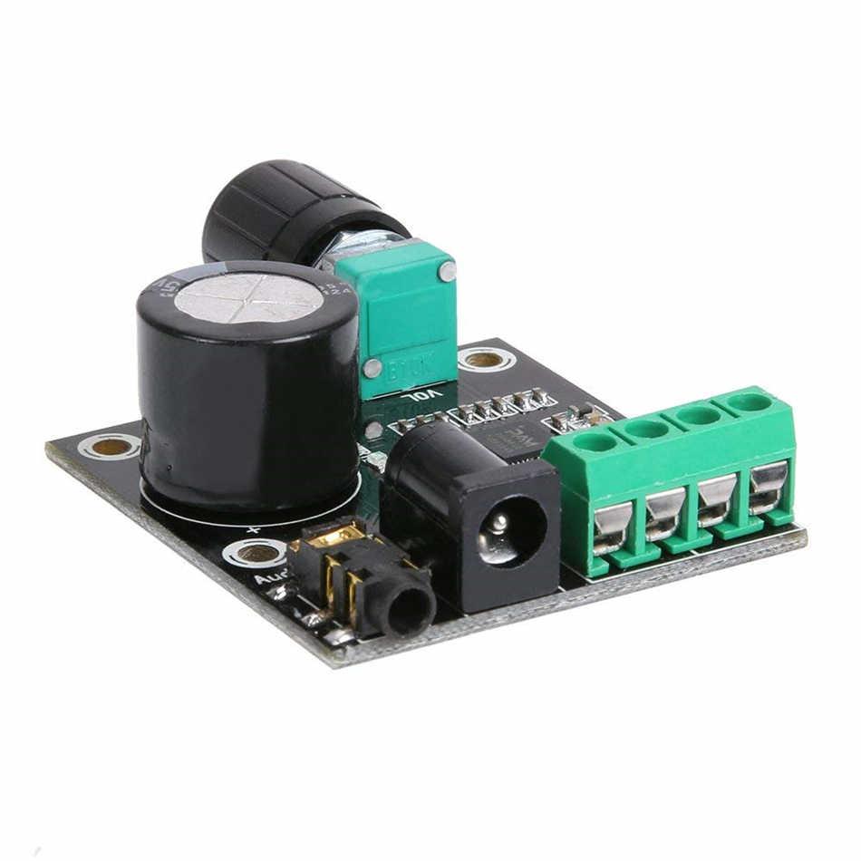 PAM8610 мини стереоусилитель аудио Плата усилителя цифровой портативный усилитель модуль 15 Вт * 2 двухканальный усилитель класса D, работающего на постоянном токе 12 В