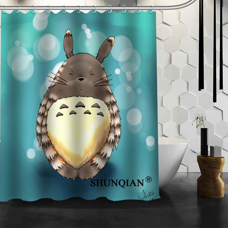Totoro Shower Curtain Customized Bath Curtain Waterproof Polyester Fabric Curtain For Bathroom