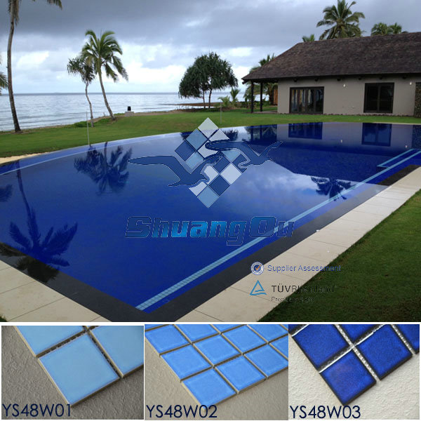 US $13.0 |Stock Hot Sale no MOQ International Standard ISO tested good  quality Ceramic Swimming Pool Tiles YS48W03 on Aliexpress.com | Alibaba  Group