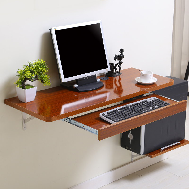 simple home desktop computer desk simple small apartment new space saving wall table in computer. Black Bedroom Furniture Sets. Home Design Ideas