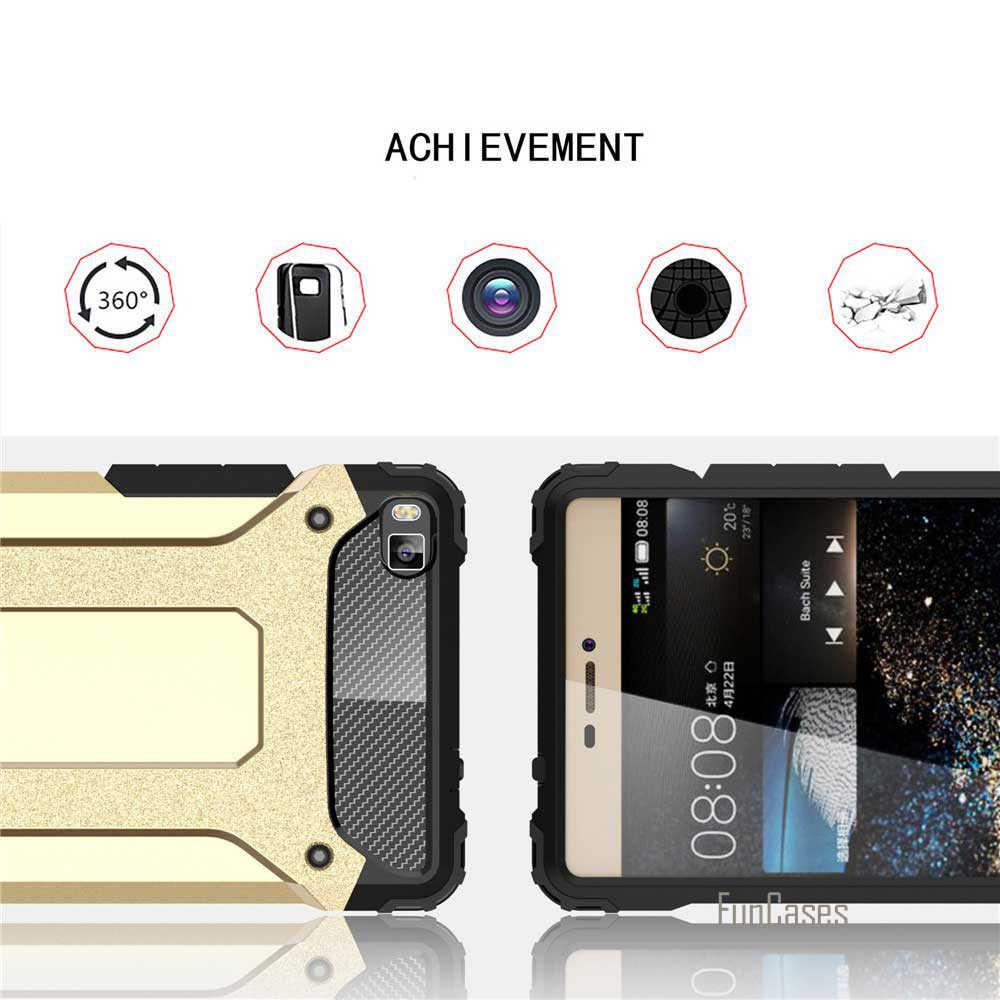 Nuovo Per Huawei P8 Lite P8 Caso Shockproof della Copertura della cassa Molle Del Silicone di TPU + PC Diamante Armatura Difendere Scudo Fundas Mobile custodie borsa del telefono