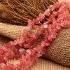 1Strand Irregular Natural Stone gravel Beaded 8-12mm Druzy Gems Watermelon Red Crystal Quartz Beads Jewelry DIY Created Chips