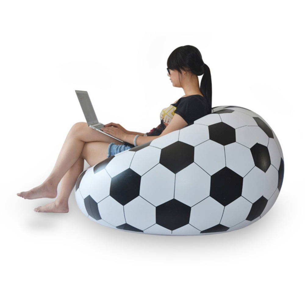 Inflatable furniture for adults - Fashion Inflatable Sofa Air Soccar Football Self Bean Bag Chair Portable Outdoor Garden Sofa Living Room Furniture Corner Sofa In Garden Sofas From