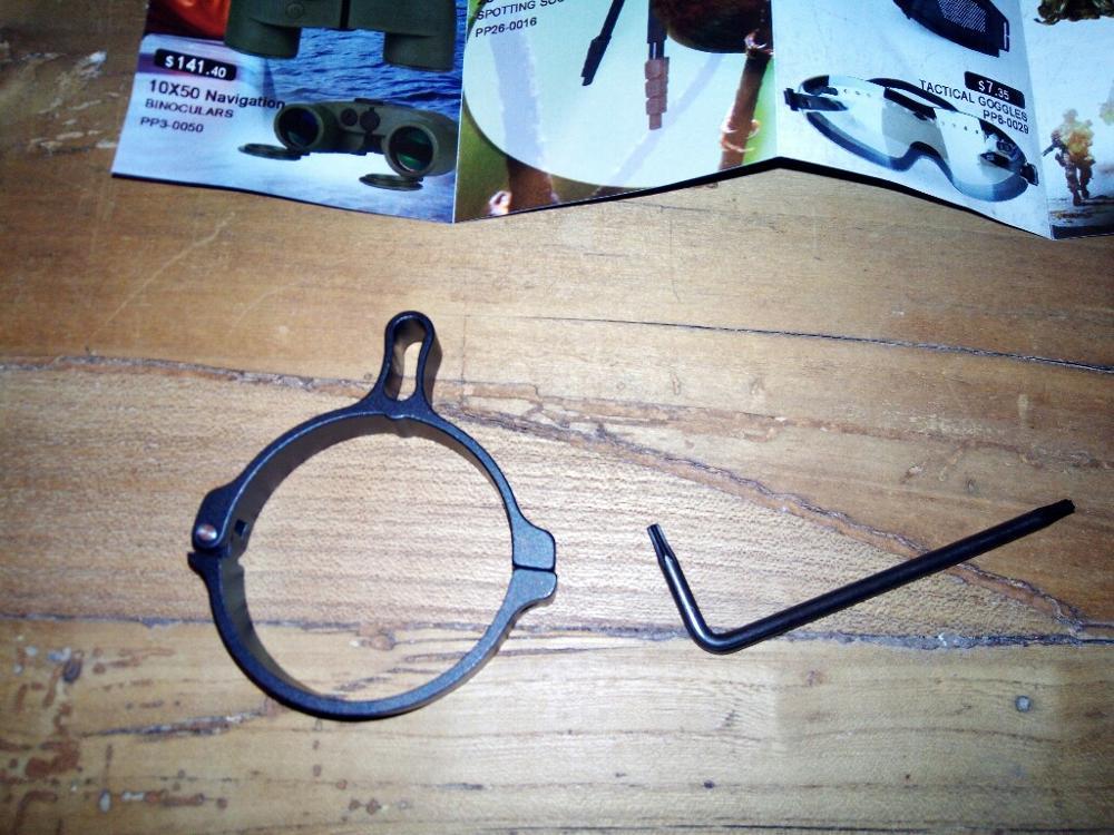 airsoft arma interruptor de alumínio vista lance