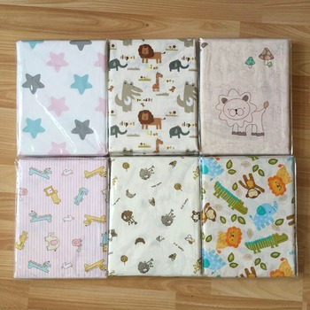 Newborn Flat Bed Sheet Cotton Baby Crib Sheets Cartoon Printing Super Soft Infant Cot Sheets Bedding Set Baby Blankets 150X90cm