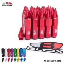 Blox 20 piezas, 12x1,5 picos de aluminio, 60MM, sintonizador extendido, Tuercas de Llantas de ruedas, Racing Jdm AF 550NSPK 1215