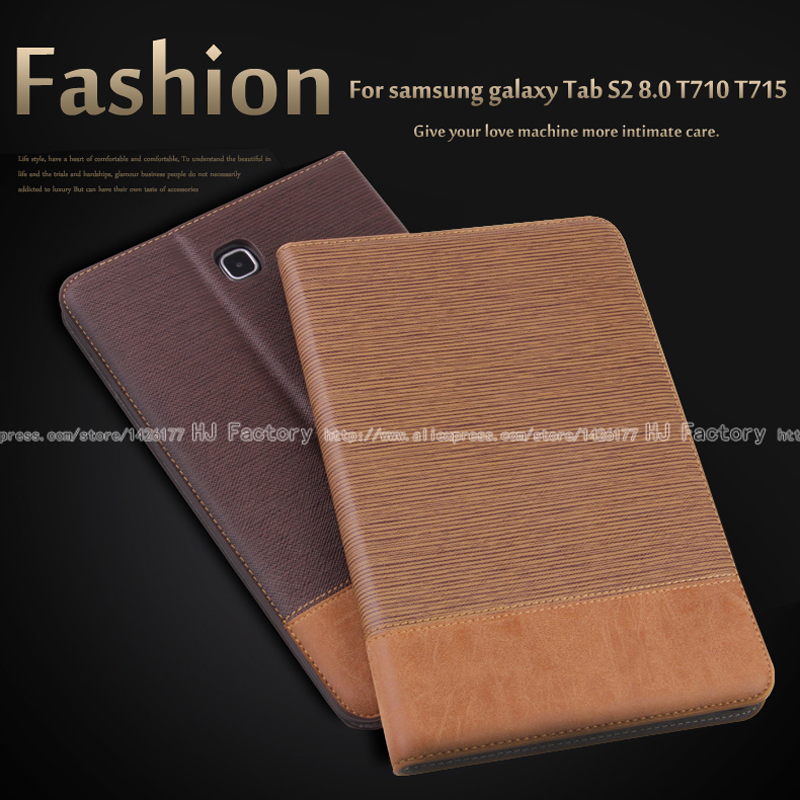 Business Leather Case For Samsung Galaxy Tab S2 8.0 T710 T715 8.0 inch Tablet  Support stand Cover with Card Solt + Film +Stylus 3 in 1 high quality business smart pu leather book cover case for samsung galaxy tab s2 t710 t715 8 0 stylus screen film