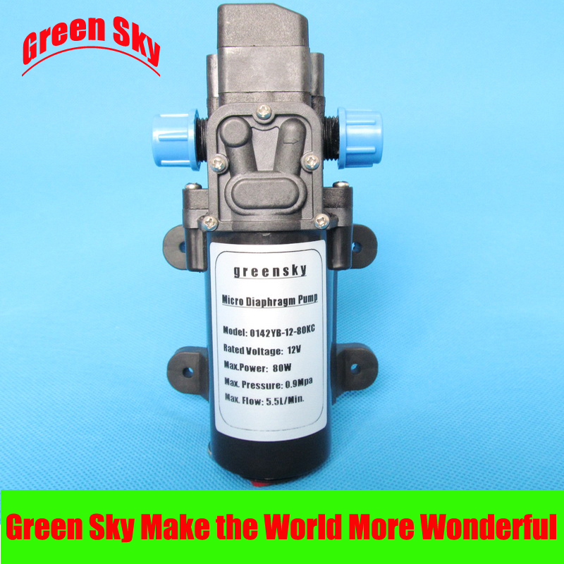 ФОТО 5.5l/min automatic pressure switch type with on/off button and socket diaphragm water pump dc 12v 80w