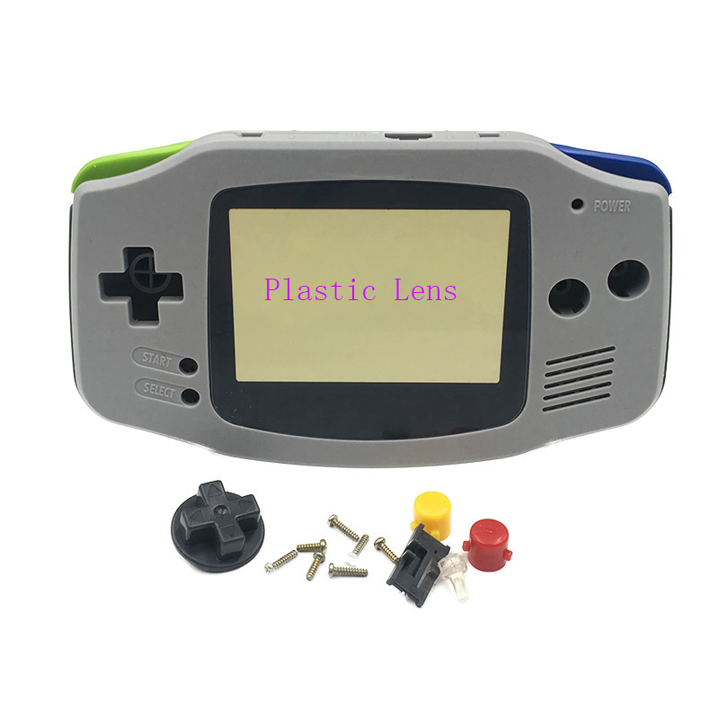 Replacement Grey For Super Famicom Version Housing Shell Case Cover for Nintendo Gameboy Advance GBA