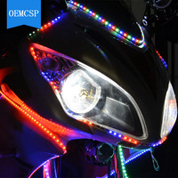 Car Auto Decor Flexible LED Strips Light 12V 120cm For Daytime Running Light Motorcycle Car Bike Waterproof|  -
