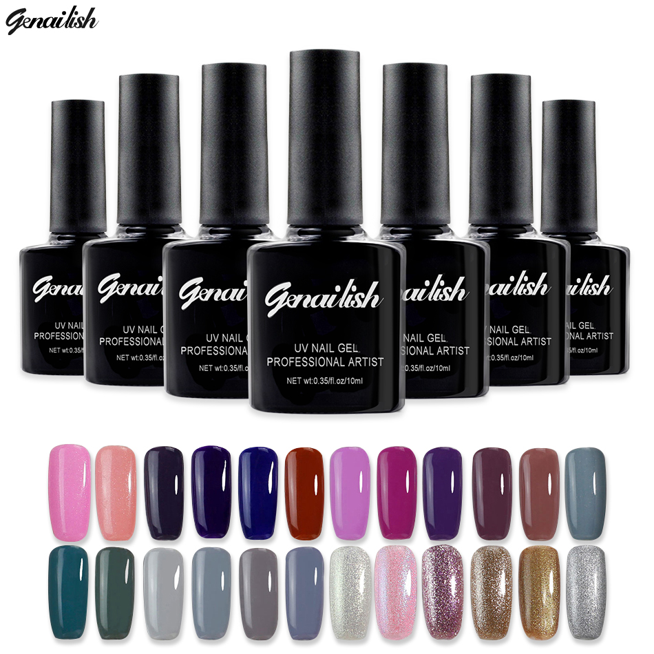 168 Colors Gel Nail Polish UV Gel Polish Long-lasting Soak-off LED UV Gel Color Nail Gel 10ml/Pcs Nail Art Tools genailish-GB5