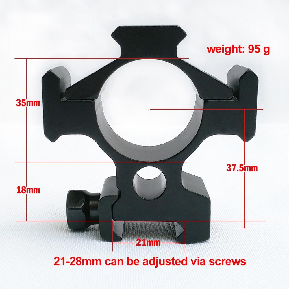 Peças de Montagem do Escopo de Alumínio para 20mm Três Lados Weaver Picatinny Ferroviário Caça Rifle Scope Monta Anéis Poderosos 35 mm 6061