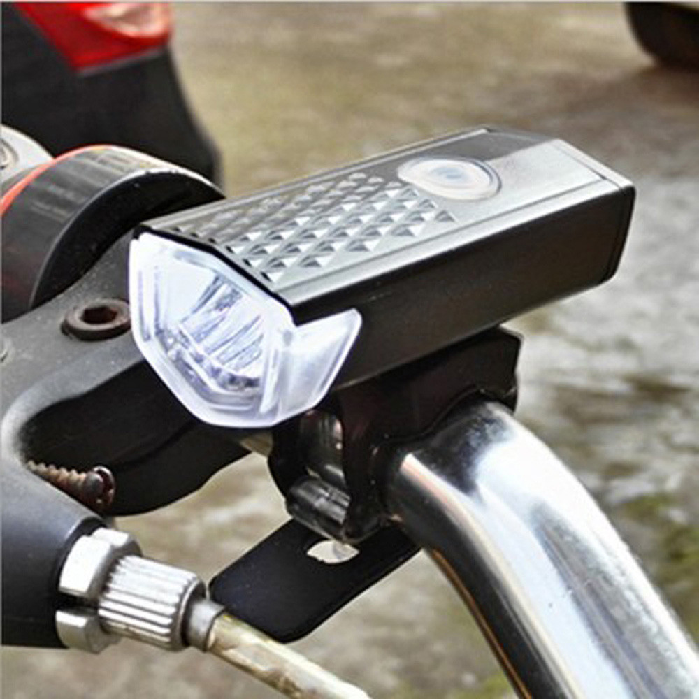 New Superbright USB Rechargeable XPE 3W LED LED Bike Bicycle Cycling Front Light Headlihgt Lamp Torch with Rubber Strap MUQGEW solar energy usb rechargeable 2 in 1 bicycle safety warning lamp cycling bike led front light waterproof headlight black white