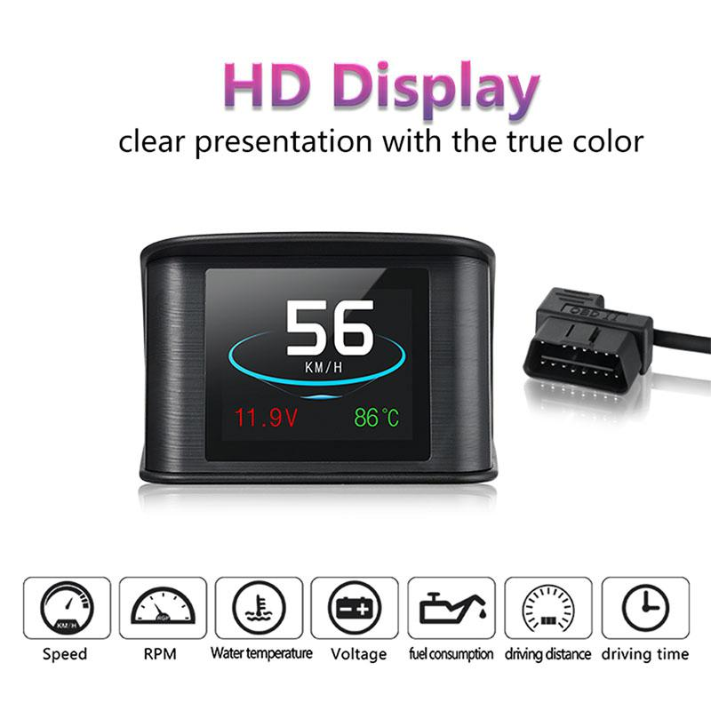 Adeeing 2.2 Inch P10 HUD Head Up Display Multi Color Car Speedometer Digital Reflective Projector HUD Head Up Display r38