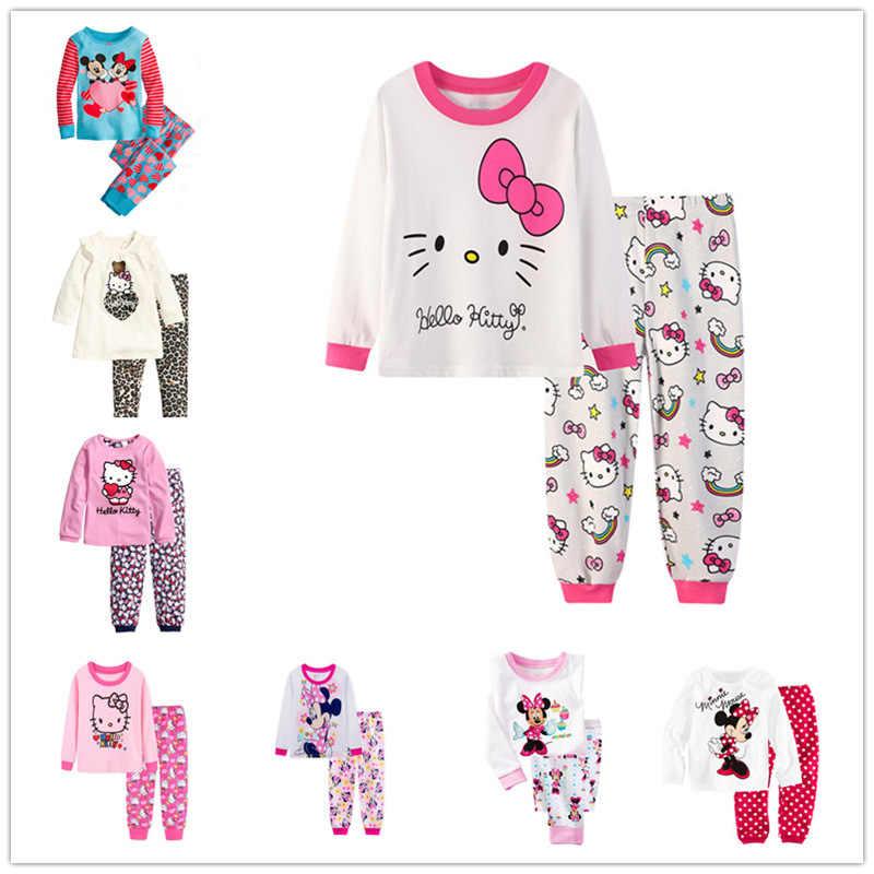 e2117b0d4 Kids Pajamas Hello Kitty Children Sleepwear Baby Pajamas Sets Boys Girls  Animal Pyjamas Cartoon Cat Pijamas