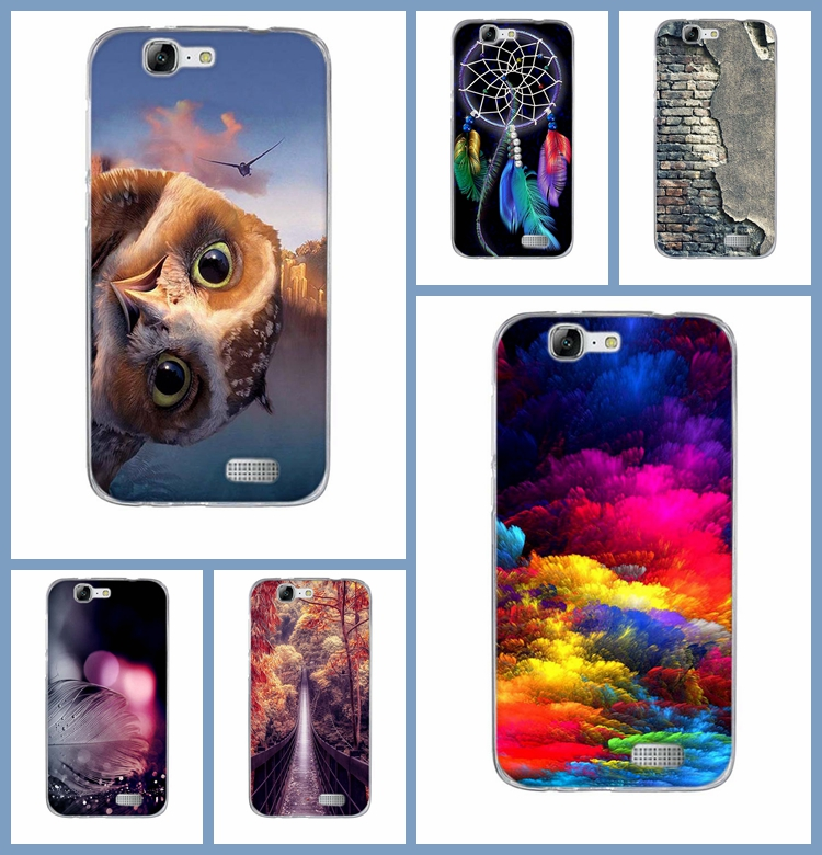 Soft Case for Huawei Ascend G7 Cover Case Tpu Silicone Gradient Mobile Phone Case Back Cover Skin for Huawei Ascend G7 Phone Bag