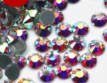 10bags/lot Quality Clear Crystal AB Hot Fix Rhinestone Super Bright Glass Strass Hotfix Iron On Rhinestones For Fabric garment