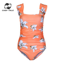 Maternity Swimwear Summer Floral Pattern Women Flower Print Bikinis Pregnancy Swimsuit Plus Size Beachwear For Pregnant Wear недорого