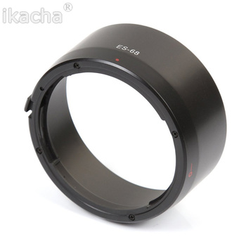ES-68 ES 68 ES68 osłona obiektywu akcesoria do obiektywu aparatu Canon EOS EF 50mm f 1 8 STM tanie i dobre opinie ikacha ES-68 ES 68 ES68 Lens Hood Camera Lens Accessories for Canon EOS EF 50mm f 1 8 STM