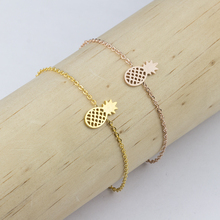 GORGEOUS TALE Trendy Stainless Steel Silver Chain Pineapple Bracelet For Women