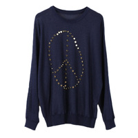 Runway design Office Lady Sequin Patchwork sweater women pullovers Spring Geometric tops knitted jumper Rivet Sweater Luxury
