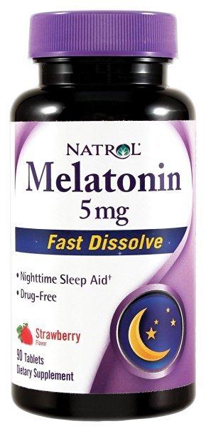 Natrol-Melatonina Disolución Rápida, 5 mg, 90 comprimidos [Salud y Belleza]
