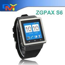 Neue Smartwatch S6 1,54 Zoll ZGPAX Smart Uhr Smartphone mit Mic Lautsprecher mit MTK6577 Dual Core 2.0MP Kamera WIFI WCDMA GSM GPS