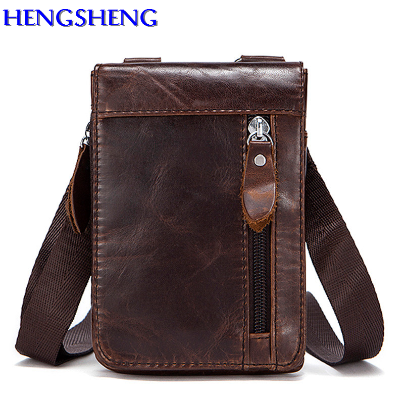 Hengsheng fashion small men shoulder bags with top quality genuine leather men messenger bag for casual male shoulder bag 1
