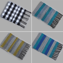 New Designer 2018 Winter Women  Cashmere jacquard scarf Female Plaid Scarves Triangle Blanket Hot
