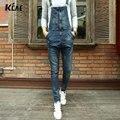 Мода джинсовые комбинезоны с нагрудниками комбинезоны для мужчин 2016 Марка длинные solid синий тонкий ковбой общая хлопок тощий комбинезоны мужские джинсы Размер 28-34