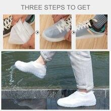 Reusable Shoe Covers Waterproof Silicone Rain Shoe Outdoor Protectors Overshoes High Quality Men Women's Rain Waterproof Boots